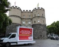Zwischenstopp auf dem Rudolfplatz in Köln, Foto: DGB-NRW
