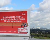 Unser höchster Halt auf der Halde Beckstraße in Bottrop, wo das Wahrzeichen der Stadt steht: das Tetreader, Foto: DGB-NRW