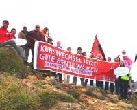 Gipfel-Treffen für eine gerechte Rentenpolitik! Der DGB besteigt den Berg Laber in Oberammergau um deutlich zu machen: Nicht labern sondern handeln!, Foto: DGB