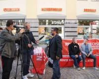 Aktion in Freiberg, Foto: DGB Südwestsachsen/Hron