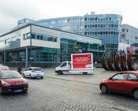 Unser Fahrzeug in der Duisburger Innenstadt, Foto: DGB-NRW