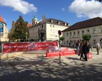 Aktion in der Innenstadt von Altötting, Foto: DGB Bayern/Zellner