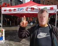 Prominenter Gast in Aschaffenburg, Foto: DGB Bayern/Wortmann