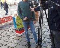 Interview mit IsarTV in Landshut, Foto: DGB/Wessely