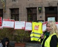 Wofür muss die Rente reichen? Das wurden die Nürnberger Passanten von der IG BAU gefragt. Iris Santorin stellt die Meinungen vor, Foto: DGB/Feulner