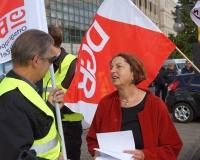 """DGB-Vorstandsmitglied Annelie Buntenbach: """"Der Autopilot steht beim Rentenniveau seit 2001 auf Sinkflug, er muss dringend abgeschaltet werden."""", Foto: DGB Berlin-Brandenburg/Hartwig Paulsen"""