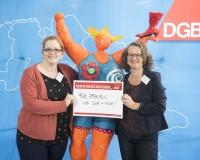 Janina Wrobel und Tina Kolbeck-Landau, DGB-Angestellte aus Hannover