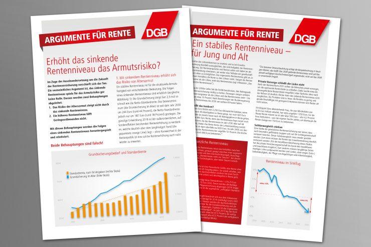 DGB Beitragsbild Renten-Kampagne Argumente für Rente