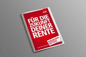 DGB-Rentenkampagne Foto des Faltblatts Zukunft deiner Rente