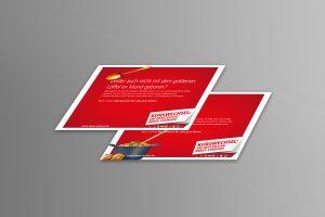 DGB-Rentenkampagne Foto der Tablettaufleger Motiv Goldener Löffel und Motiv Nachschlag