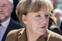 Portrait von Bundeskanzlerin Angela Merkel während einer Veranstaltung; Nahaufnahme